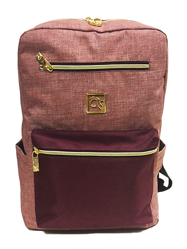 Salmon Pink - Red BackPack