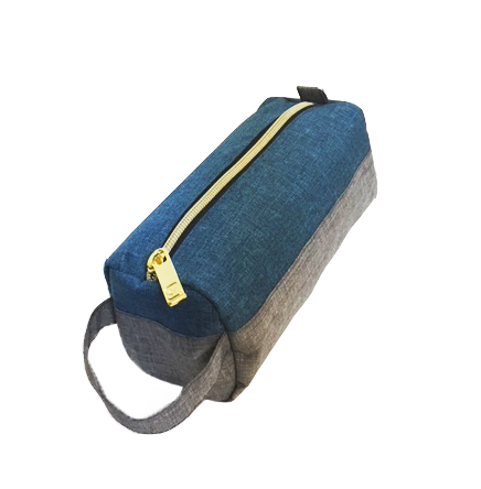 Teal Blue - Grey Pencil Case