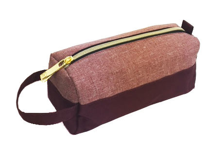 Salmon Pink - Red Pencil Case