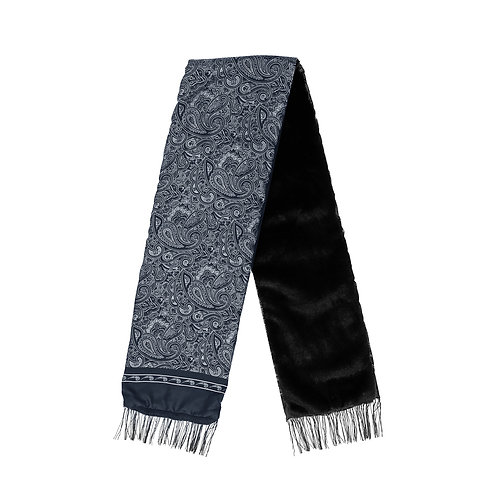 Silk & Fur #2 Black & Navy Blue