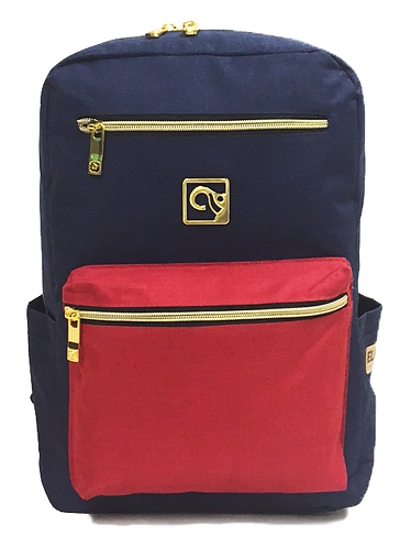 Navy W/ Red Pocket Back-Pack