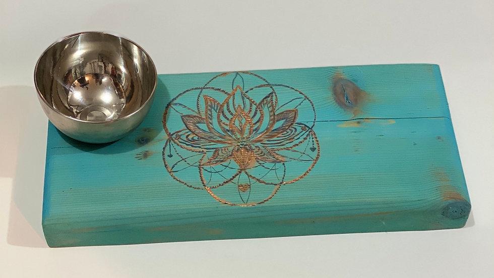 Lotus on Flower of Life Grid