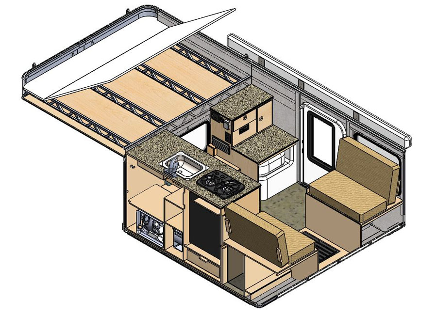 solid_works_drawing_fleet_flat_bed_drawing_four_wheel_campers_interior