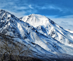 Winter Snow Capped Mountains