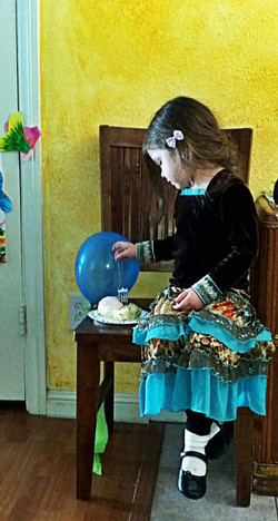 Little girl with cake