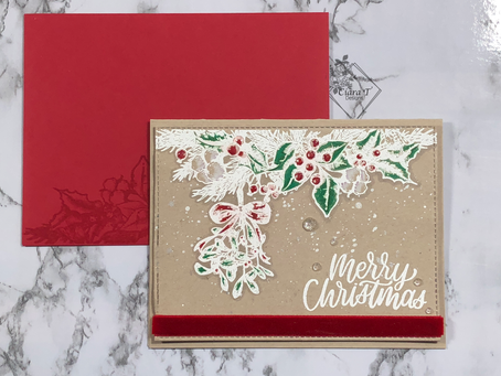 Traditional Kraft Christmas Card   Christmas in July Series