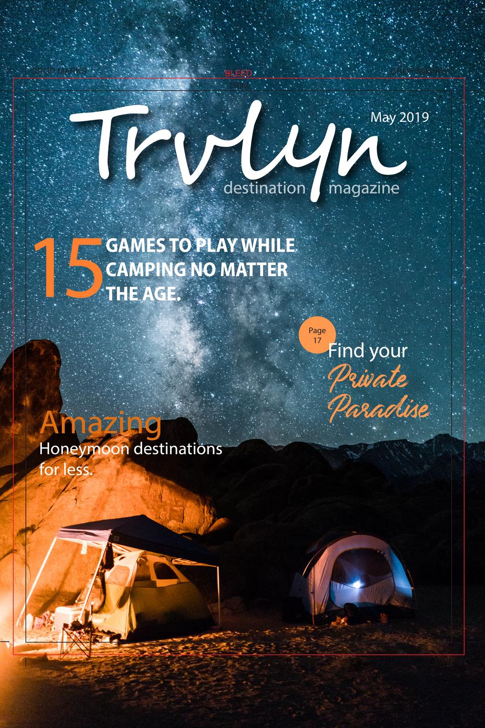 Trvlyn magazine/logo design