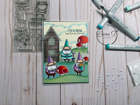 Adorable Gnome Scene Card  My Favourite Things You Gnome Me Stamps and Dies