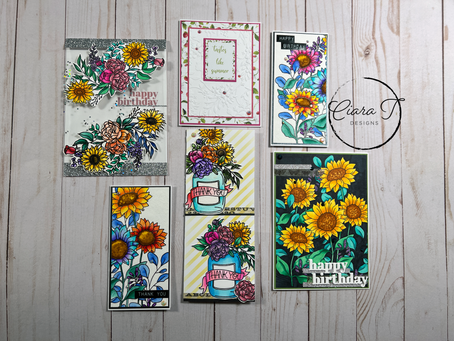 5 Cards 1 Kit Featuring Simon Says Stamp's September Card Kit