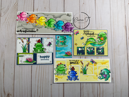 5 Cards 1 Kit Featuring Simon Says Stamp August Card Kit