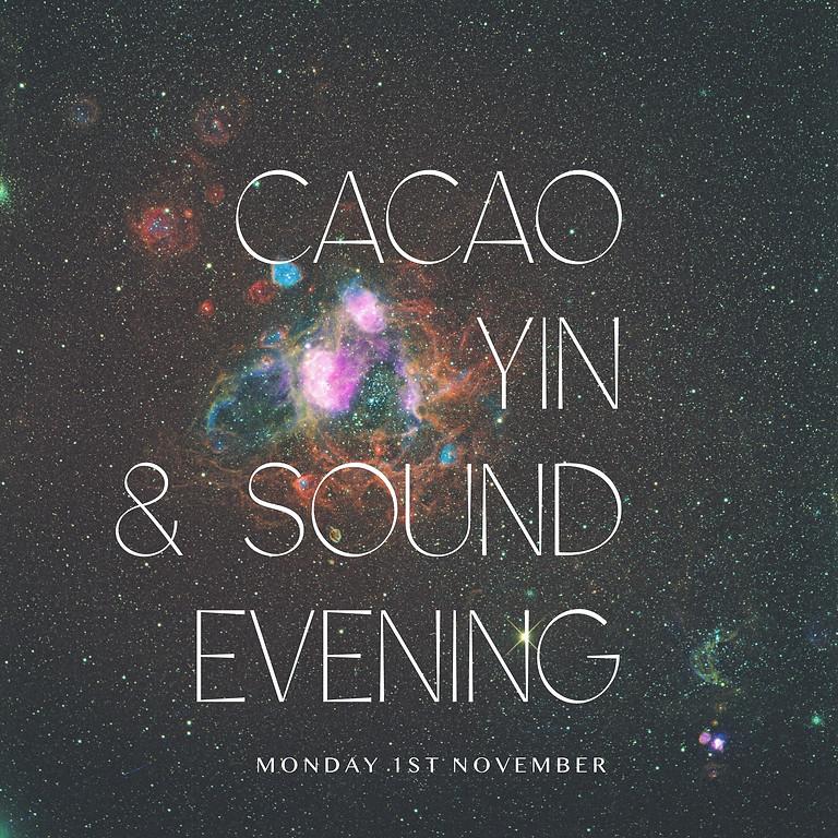 November New Moon Cacao, Yin & Gong Evening