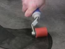 Seam Roller for removing air and ensuring good key.