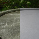 Liquid Roofing kit to roof - before and after