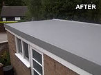 Garage roof after Flexitec GRP Overlay applied