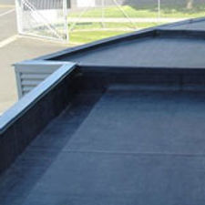 Duoply fleece reinforced roofing applied to cladded commercial unit