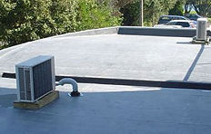 Duoply fleece reinforced materials applied to curved retail unit roof