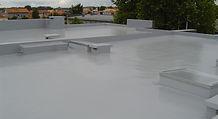 Liquid system flat roofing