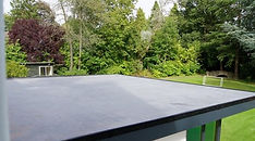 Outbuilding with 1 piece membrane rubber roof