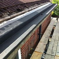 Resitrix gutter lining kit applied to commercial roof