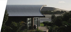 Duoply roofing materials applied to 3d shaped beach front property