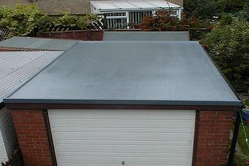 Customer garage fibreglass roof