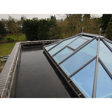 'Orangery' style roof with Rubber roofing kit installed