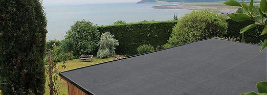 Rubber Flat Roofing - garden pavilion