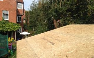 OSB3 decking for rubber roof membrane