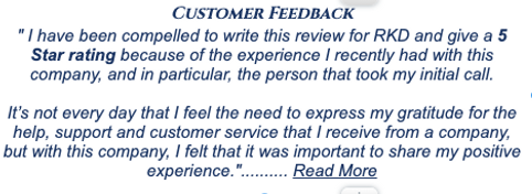 5 star customer feedback