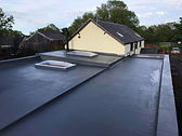 fibreglass roof with upstnds and skylights