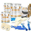 Liquid roofing kit with tools