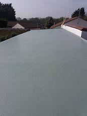 customer fibreglass roof top coat applied