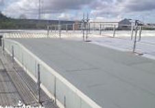 Commercial factory roof in Resitrix rubber roof membrane