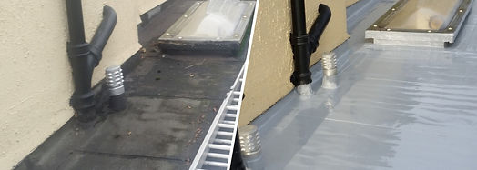 one coat liquid waterproofing system - before and after