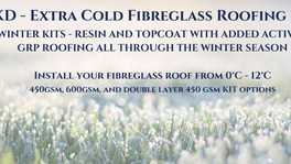 Fibreglass GRP roofing throughout the Winter