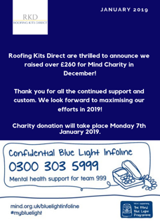 RKD raise money for MIND in December