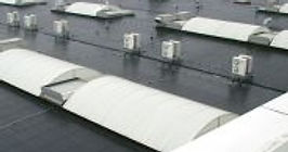 Complex commercial factory roof in Resitrix rubber roof membrane