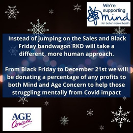 Black Friday - seemingly tempting offers? - RKD take a different tack in these challenging times.