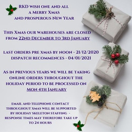 Latest info re RKD Xmas 2020 trading times
