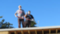 RKD customer fibreglass roof - Rich and Gregor