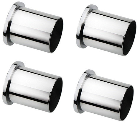 """Stainless Steel and alloys Wall to Wall Curtain Council Bracket Size 1"""" (2 Pair)"""