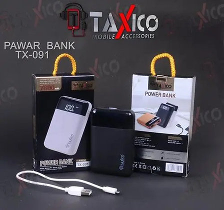 TAXICO TX-091 Hight Quality Dual USB Port 7800mAH Power Bank with 2A