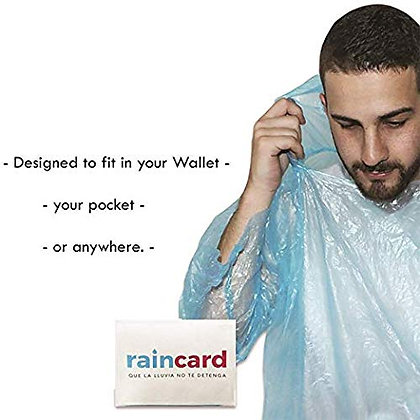 India Made pocket rain card high quality (Pack of 5)