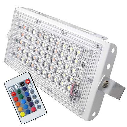 NELSON RGB 50 Watt Ultra Thin Slim IP65 Metal LED Flood Outdoor Light