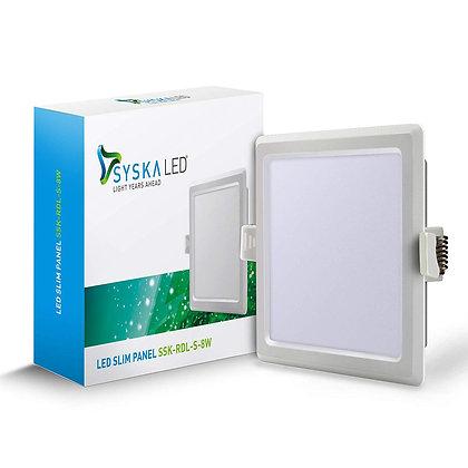Syska SSK-RDL-S 8-Watt LED Slim Recessed Panel Light (Cool White, Square)