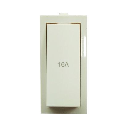 WESTERN ISI Plastic Vega Modular Pilot 1 Way Switch 16A. 240V. (White) 1Box-4 Pc