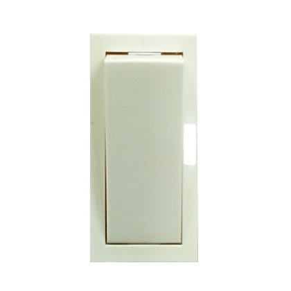 WESTERN Vega Plastic 6A 240VModular Pilot 1Way Switch (White)-4