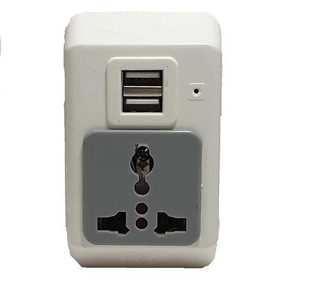 SYSKA Travel Adapter with USB PORT-MPU-0301