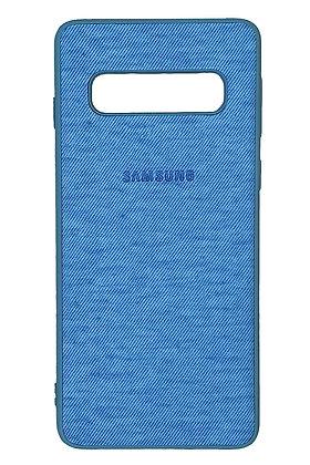 Samsung s10 CaseSoft Tpu With Fiber Texture Blue