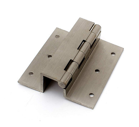 BRIJ Steel Gold Brass W Hinges 3 INCH Pack of 16 PCS (Silver Matte Finish)